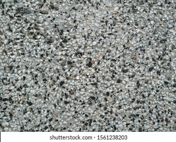 small black and white stones mosaic