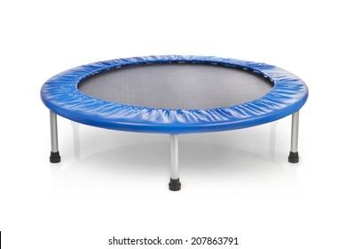 small blue fitness trampolin