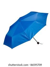 A small blue umbrella
