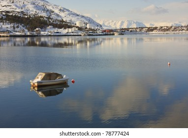 Small boat in Alta Harbour, Norway
