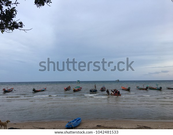 Small boat and The beach