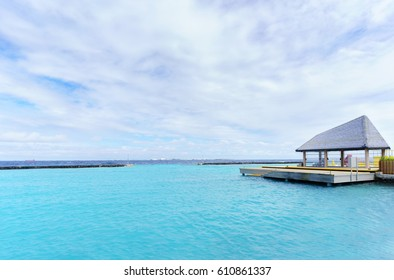 Small boat dock on Maldives Island
