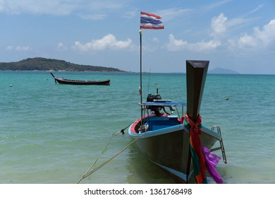 Small boat sea guide Phuket Thailand