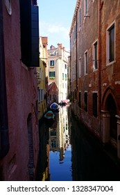 Small boats and  canal in Venice, Italy