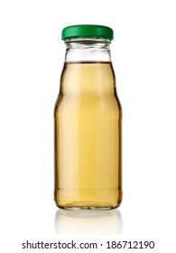 Small bottle of apple juice