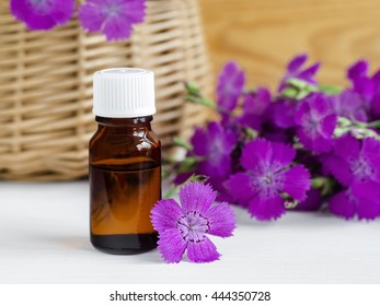 Small bottle of natural cosmetic (essential) aroma oil