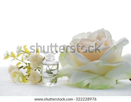 Small bottle perfume white flowers stock photo edit now 322228976 small bottle of perfume with white flowers mightylinksfo