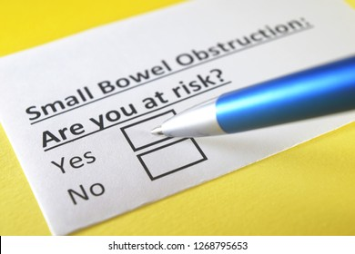 Small bowel obstruction: are you at risk? yes or no
