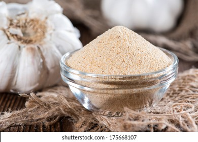 Small bowl with Garlic Spice (close-up shot)