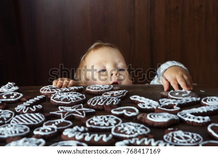 Small Boy Tries Grab Traditional Homemade Stock Photo (Edit Now