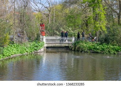 Small Bridge At The Artis Zoo Amsterdam The Netherlands 2019