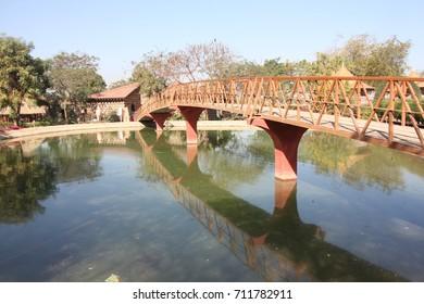 Small bridge on pond