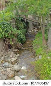 small bridge over stream