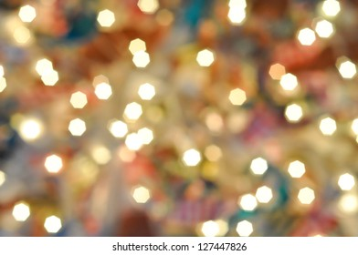 Small bright bokeh on a colourful background