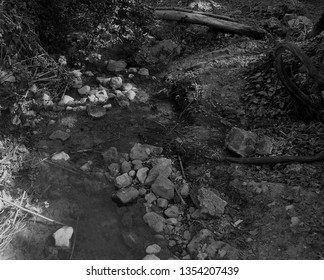 A small brook running along the valley floor in scenic Polis area of Cyprus