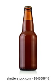 Small brown beer bottle