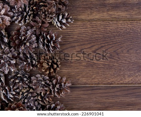 Small Brown Bumps Lie On Wooden Stock Photo (Edit Now