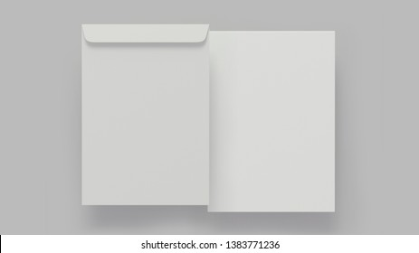 Small brown envelope isolated on white