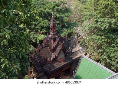 Small Buddhist shrine at  Phnom Kulen, Cambodia