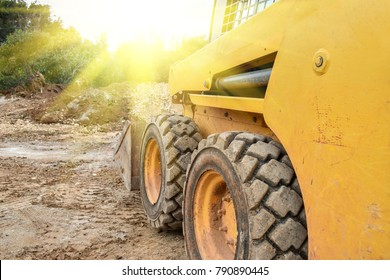Small bulldozer does the work