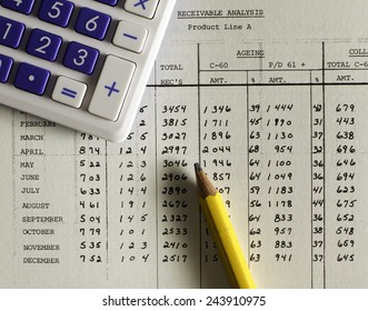 Small business accounting ledger