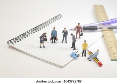 a small business figure with the stationery