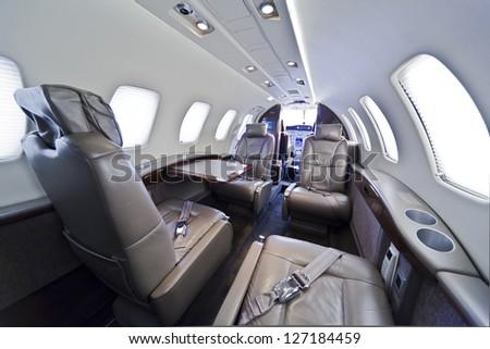 small business jet plane interior stock photo edit now 127184459