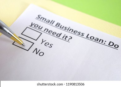 Small business loan: do you need it? yes or no