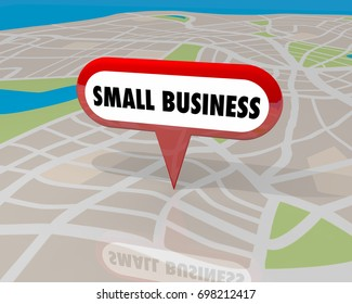 Small Business New Location Map Pin 3d Illustration