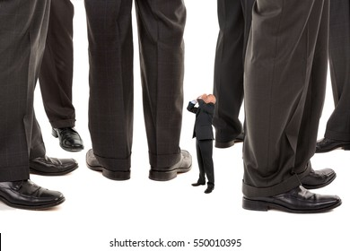 Small businessman trying to be heard amongst big business players