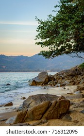 Small calm Hua beach on Phuket island
