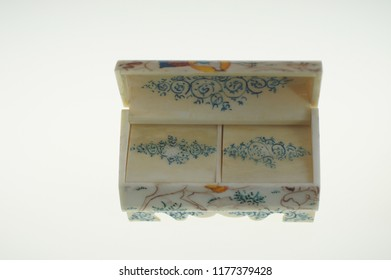 small camel bone jewelry box from India
