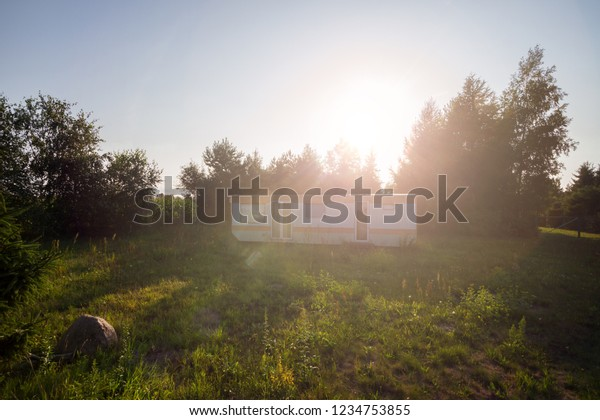 Small Camping House Buildings Landmarks Parks Outdoor Stock Image