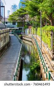 A small canal in Bangkok. Big city life
