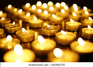 small candles and candle light