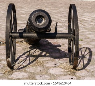 A small cannon from the war era around the 1990s