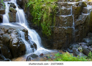 Small cascade of Mortain, Manche department, France