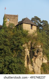Small castle on hilltop  along the Danube River near  Melk, Austria