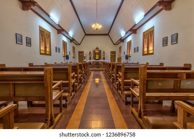 A small Catholic Chapel in Girisonta near Magelang, Central Java Indonesia. 03 November 2018