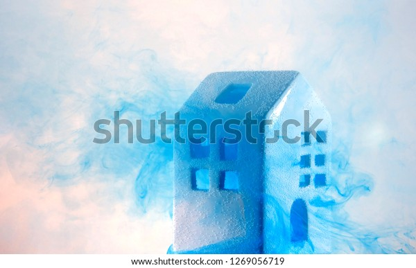 Small Ceramic House Under Water Blue Stock Photo Edit Now 1269056719