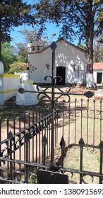 Small chapel from the 1700s in Villa Giardino, Cordoba, Argentina. Chapel cemetery.