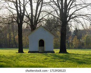 small Chapel between trees in austria