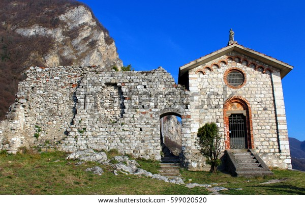 Small chapel in a castle (castello dell'Innominato)