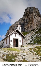 A small chapel in the famous Sesto Dolomites, south tyrol, Alps, Italy, Europe