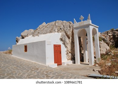 A small chapel on the Tarpon Springs Boulevard near Chorio on the Greek island of Halki.