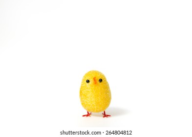 Small chicken Easter on a white background