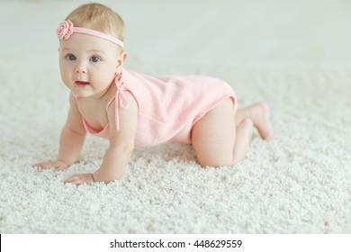 Small child creeps