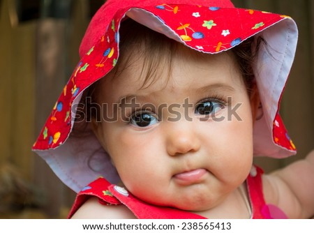 Small Child Girl Big Brown Eyes Stock Photo (Edit Now) 238565413 ... 05b329ec746