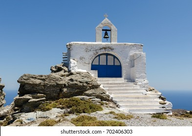A small church in Andros island
