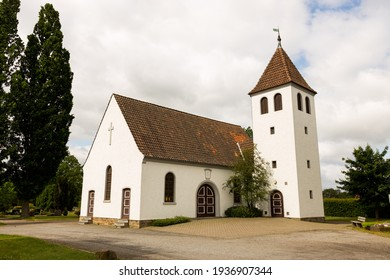 small church or chapel in a cemetery
